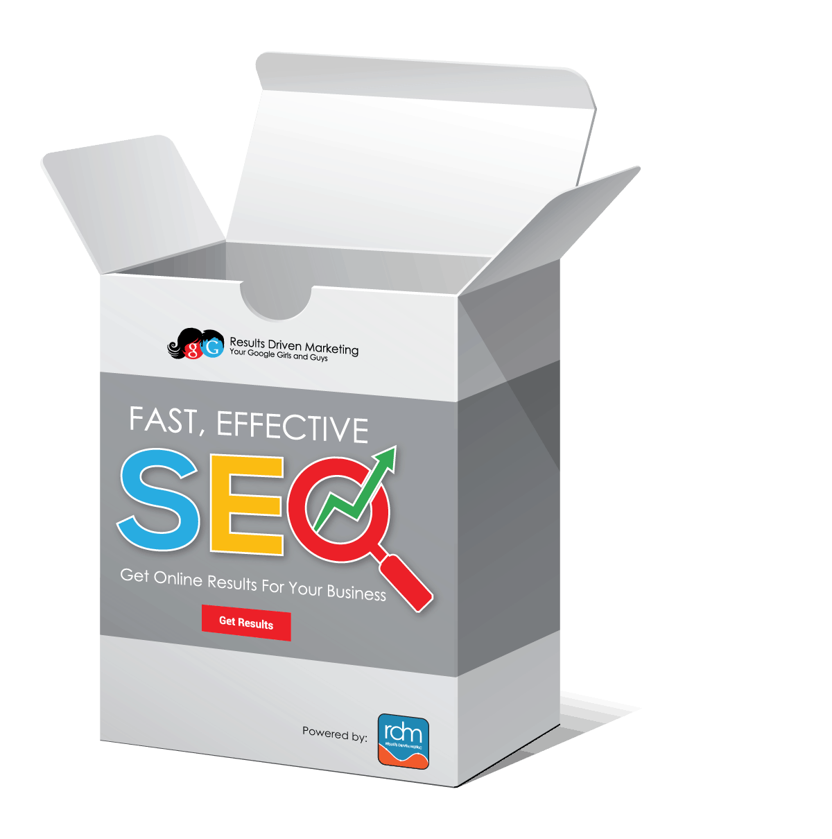 SEO IN A Box™ by Results Driven Marketing®. LLC for fast and Effective SEO at minimal costs