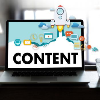 content marketing graphic displayed on computer